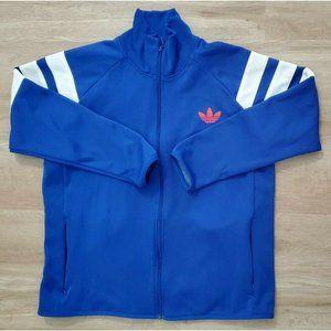 Adidas Mens Trefoil Blue Fleece Track Jacket XL